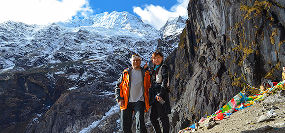 Terry & Jenny in the Himalayan Mountains of Shangri-La