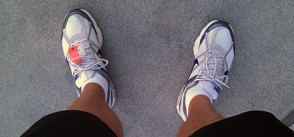 Terry's running shoes