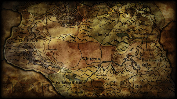 Dirty Skyrim Map by Soalce Grace