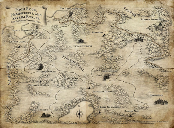 High Rock, Hammerfell, Skyrim Map