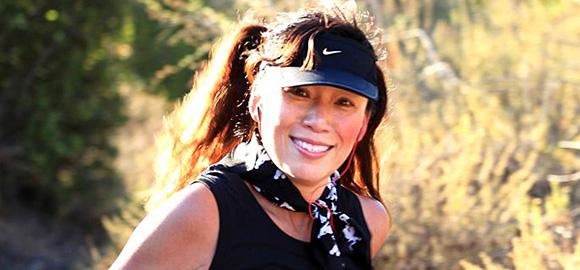 Jenny trail running an Xtrerra race