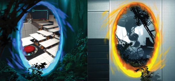 Portal 2 GameInformer Covers