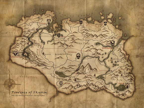 Province of Skyrim Collector Map