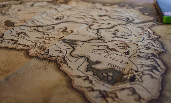 Province of Skyrim Collector Map Closeup on Riften