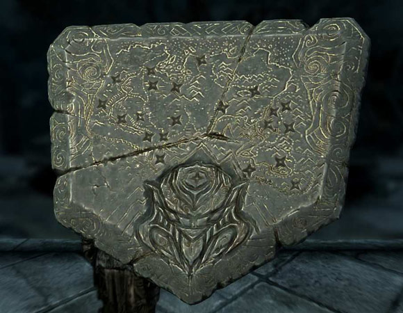 Skyrim Dragonstone Map Closeup