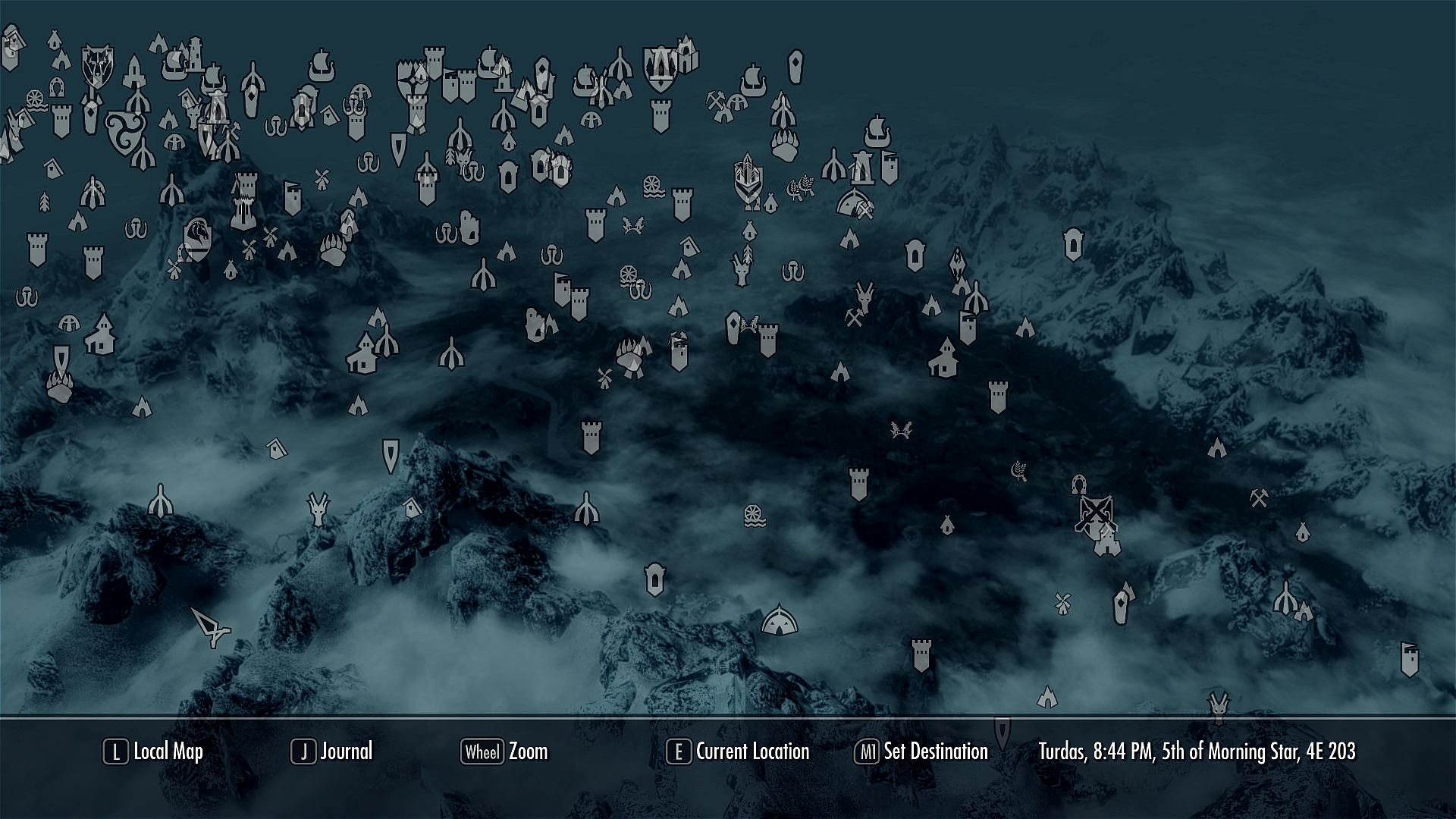 Skyrim Full Map Skyrim Map   Over 25 Different Maps of Skyrim to Map Out Your Journey