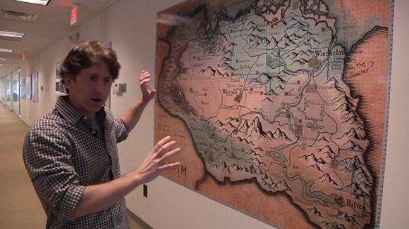 Skyrim Map at Bethesda with Todd Howard