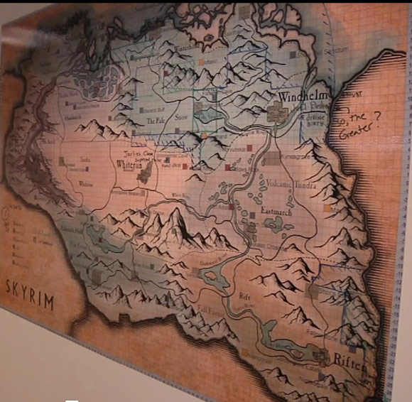 Skyrim Map at Bethesda Softworks