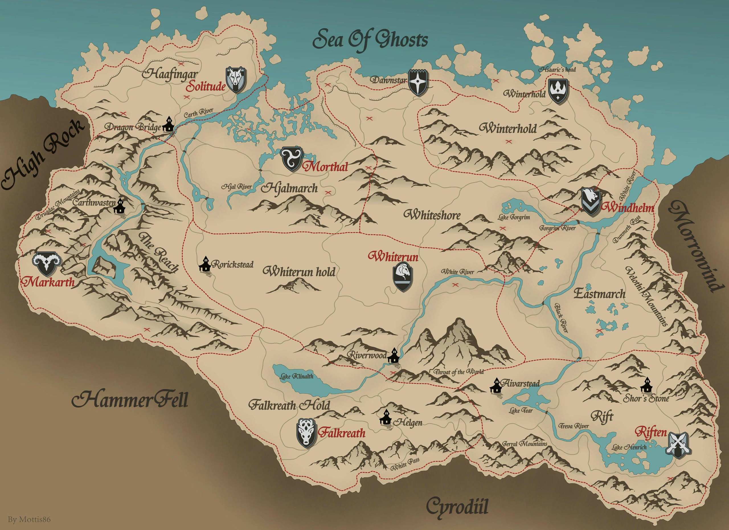 Skyrim Map - Over 25 Different Maps of Skyrim to Map Out ... on just cause 2 map, elsweyr map, dark souls map, dragonborn map, elder scrolls map, dead island map, battlefield 3 map, knights of the nine map, riften map, l.a. noire map, cyrodiil map, whiterun map, morrowind map, mass effect map, pokemon map, minecraft map, oblivion map, halo 4 map, zelda map,