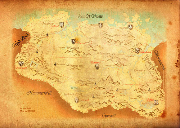 Skyrim Map by Mottis86, modded by OT[fl0k]