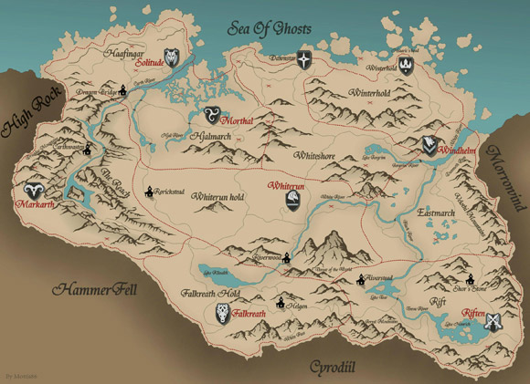 Skyrim Map by Mottis86
