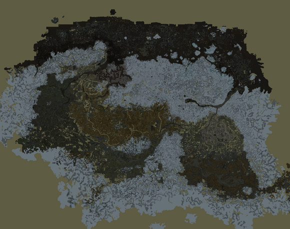 Skyrim Map Exported with TES4qlod by Ocean Lightwave