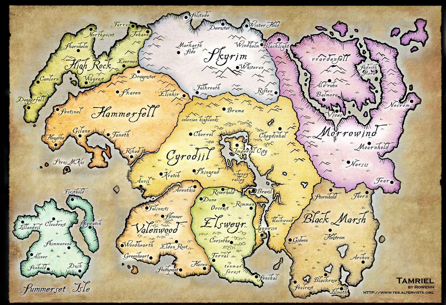 Skyrim World Map Skyrim Map   Over 25 Different Maps of Skyrim to Map Out Your Journey Skyrim World Map