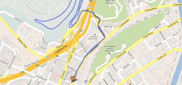 L.A. Chinatown Firecracker 5k Run Course