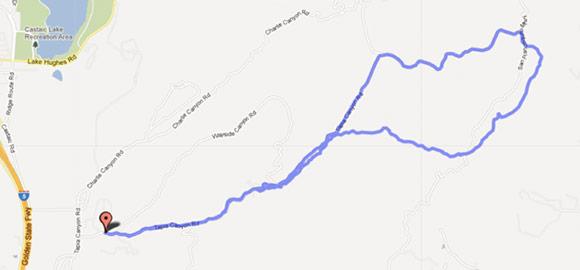 Map Tapia Canyon to Kona Single Lane Trail Loop