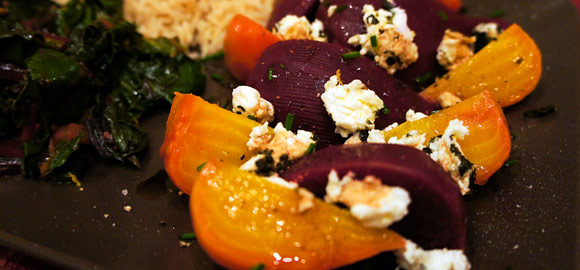 Roasted Beets with Goat Cheese