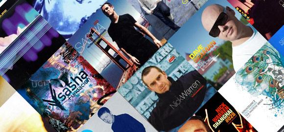 DJ's Sasha, John Digweed, Nick Warren, and Dave Seaman Album Covers