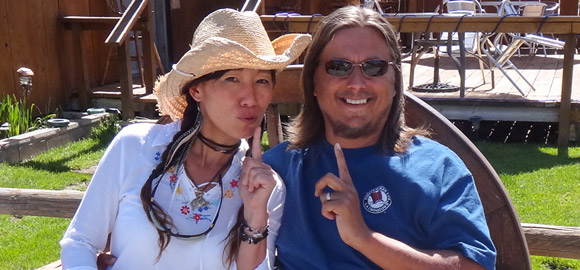 Jenny and Terry in Lone Pine, CA