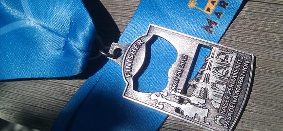 2012 Pasadena Marathon Bike Tour Medal