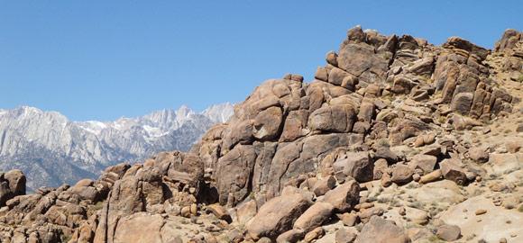 Rocks and mountain views from Wild Wild West Marathon trail