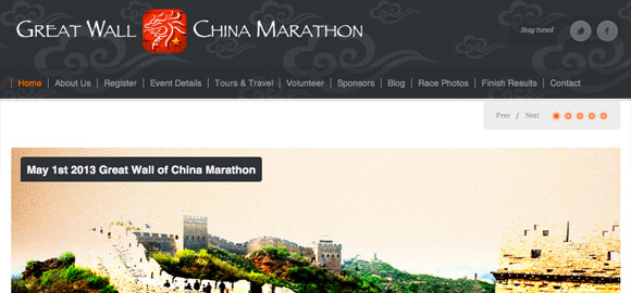 The Great Wall of China Marathon Website