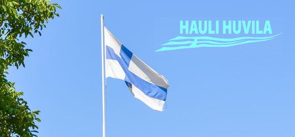 Finnish Flag at Hauli Huvila