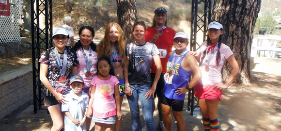 Leona Valley Trail Race finish line