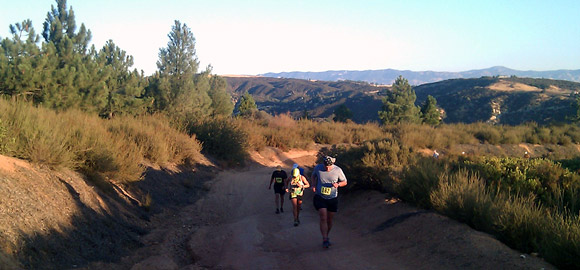 Climbing up on Leona Valley Trail Race