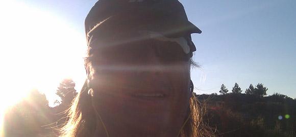 Terry on the Leona Valley Trail Race half marathon
