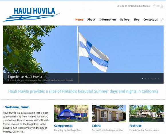 New Hauli Huvila Homepage