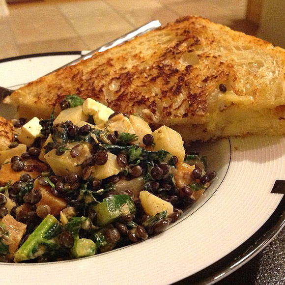 Black Lentil and Kale Veggie Salad