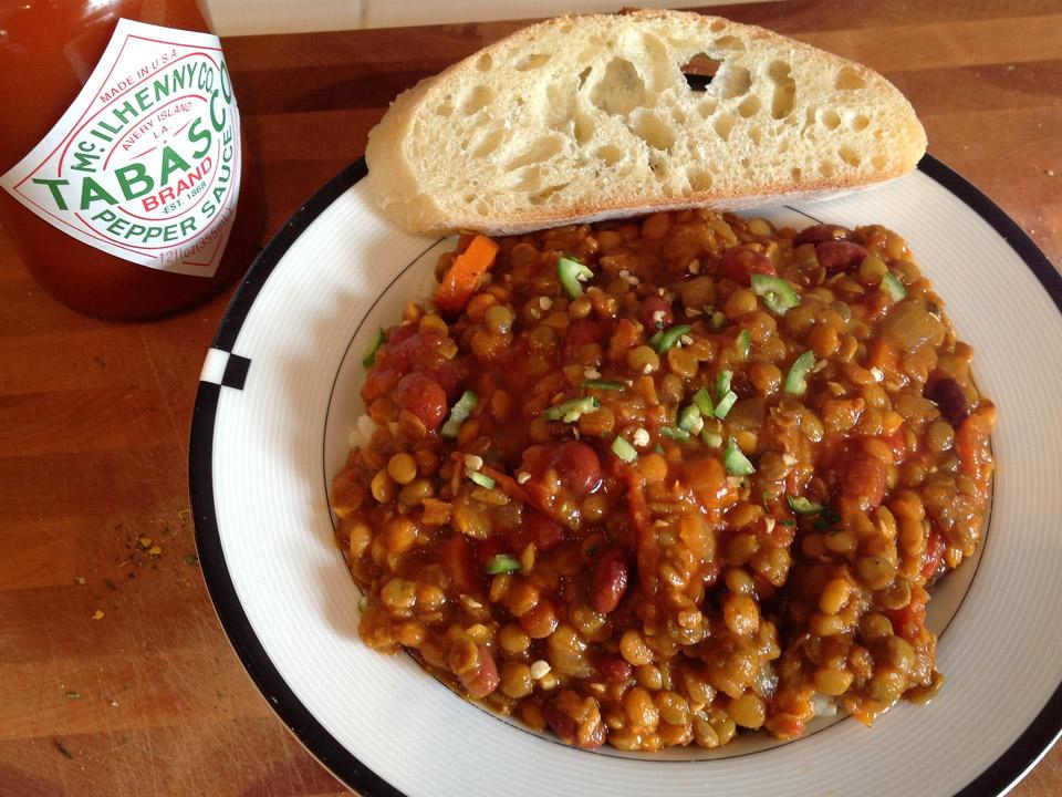 Vegan Lentil Chili recipe by Terry Majamaki