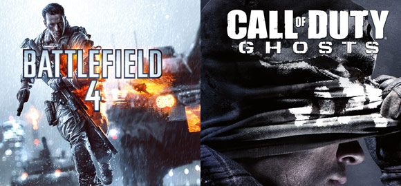Battlefield 4 and Call of Duty: Ghosts