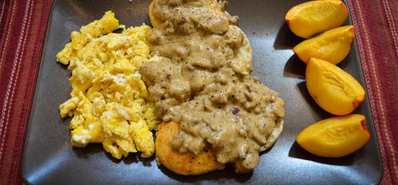 Vegetarian Biscuits and Cauliflower Gravy